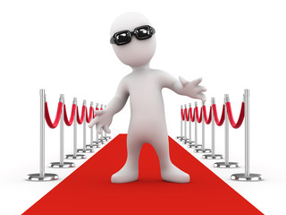 3d Red Carpet Celebrity in dark sunglasses
