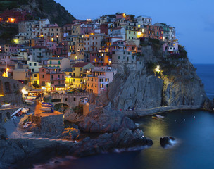 Night view of Manarola (Italy)