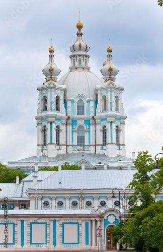 View on Smolnyi  cathedral  St. Petersburg. Russia