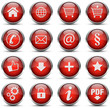 Button Icon Set Rot