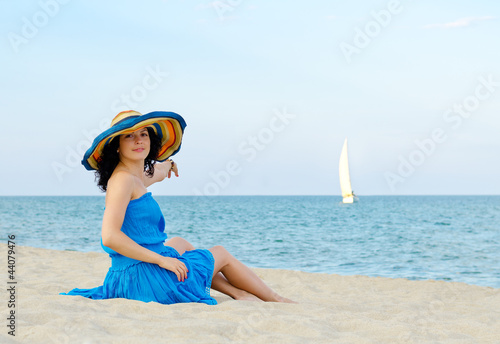 Beautiful woman relaxing on a beach
