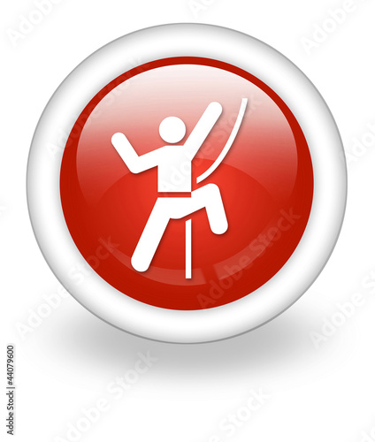 "Light Red Icon ""Rock Climbing"""