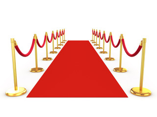 3d Red Carpet and gold ballustrades