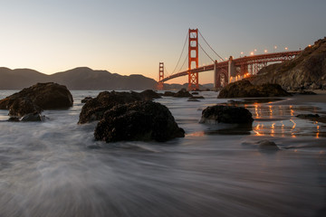 Golden Gate Bridge with Beach in San Francisco
