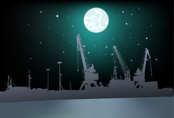 Lunar landscape in port