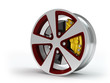 Car wheel  on white background.