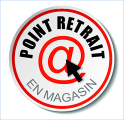 Badge Point retrait en magasin
