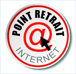 Badge point retrait internet
