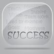 success flow chart in glass bubbles