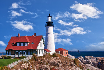 Portland Head Lighthouse in Cape Elizabeth, Maine