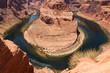 Horseshoe bend of Colorado river in Page Arizona