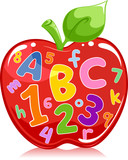 Apple Filled with Letters and Numbers