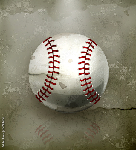 Baseball, old-style vector