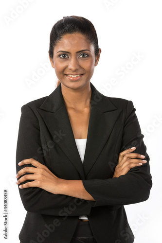 Portrait of a happy Indian businesswoman.