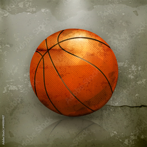 Basketball, old-style vector