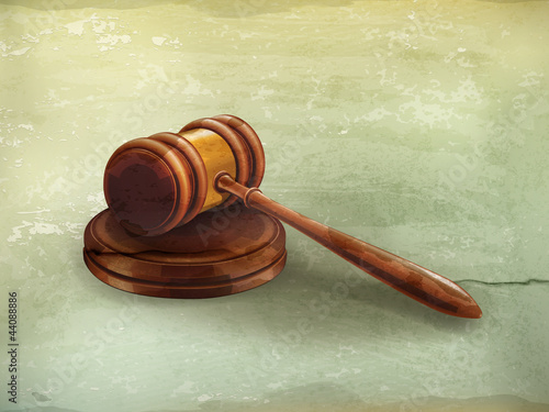 Gavel, old-style vector