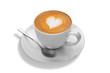 latte art on white background