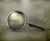 Magnifying glass, old-style vector