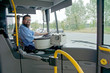 Leinwanddruck Bild - Bus Driver