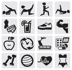 fitness and sport set