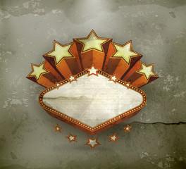 Vegas emblem, old-style vector