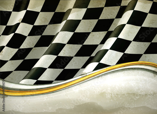 Vector Checkered Background, old-style vector