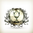 Emblem Silver, old-style vector isolated