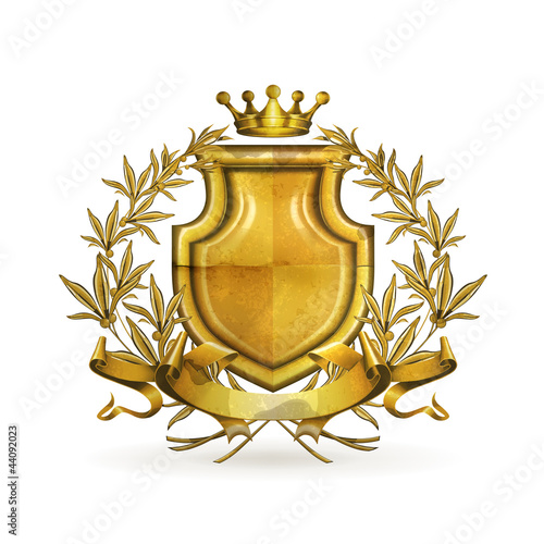 Coat of arms, old-style vector isolated