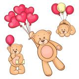 Fototapete Liebe - Teddy - Altes Spielzeug