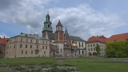 Time lapse of Wawel Castle in Kraków in Poland