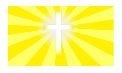 Crucifix in sunlight Vector