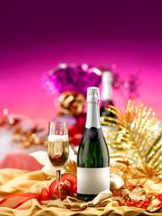 bottiglia bicchiere feste buon natale