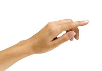 mano su bianco