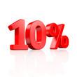 10% Rabatt - 3D Schrift
