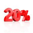 20% Rabatt - 3D Schrift