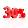 30% Rabatt - 3D Schrift