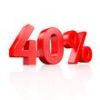40% Rabatt - 3D Schrift