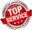 "Button Banner ""Top Service"" rot/silber"