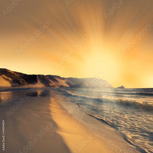 Fototapeta Sunset at beach