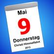 Kalender auf blau - 05.05.2013 - Christi Himmelfahrt