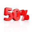50% Rabatt - 3D Schrift