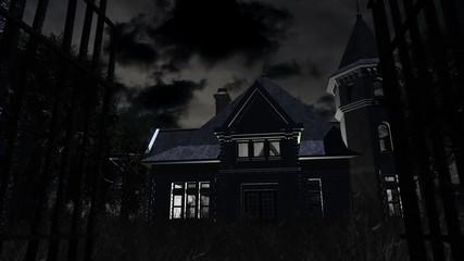 Scary House 3D animation