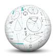 Mathematik, Kugel, 3D, Mathe, Kreise, Symbole, Zeichen, Kegel