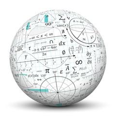 Mathematik, Kugel, 3D, Mathe, Formeln, Symbole, Zeichen, Sinus