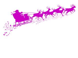 Weihnachtsschlitten, Rentierschlitten, Schlitten, Weihnachtsmann