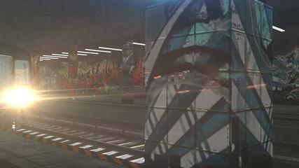 Subway 3D animation