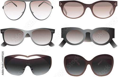 Collection of sunglasses. Vector