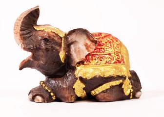 Thai elephant magnet on the fridge