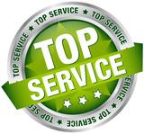 "Button Banner ""Top Service"" grün/silber"
