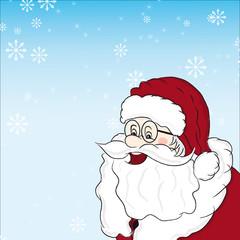 Santa Claus mit Schneeflocken